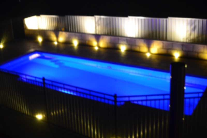 Swimming pool installation of all low voltage lighting.