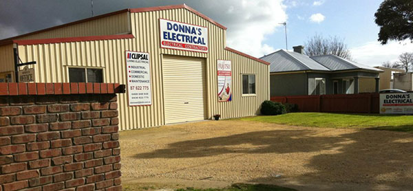 Donna's Electrical premises located at 10 Arthur St, Naracoorte, SA.